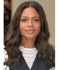 Naomie Harris Charming Long Wavy Lace Front Synthetic Hair Wig 18 Inches