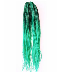 Green and Black Mixted Color Senegalese Twist Braid for Black Women