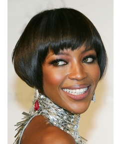 Cute Short Bob Straight Capless Synthetic Hair Wig 8 Inches