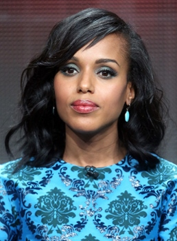Kerry Washington Medium Wavy Lace Front Human Hair Wig 16 Inches
