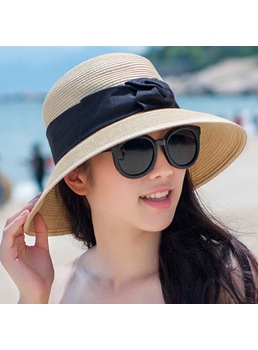 Butterfly Knot Foldable Sandbeach Hat