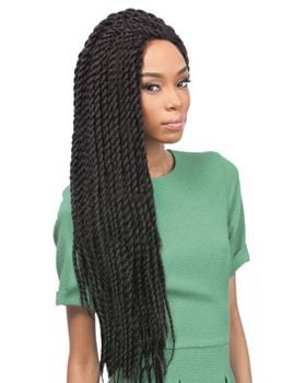 Black Women Twist Afro Crochet Braid 22 Inches