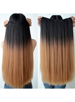 Fashionable Straight Human Hair Flip In Hair Extension 16 Inches-26 Inches