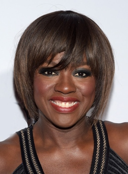 Viola Davis Short Bob Straight Capless Synthetic Hair Wig 10 Inches