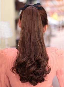 Sweet Hot Sale Long Big Wave Synthetic Ponytail