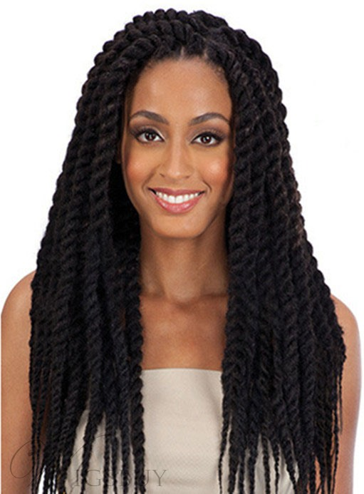 African American Rope Twist Braid 24 Inches