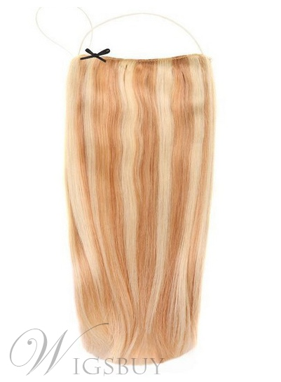 Mixed Color Straight 100% Human Hair Flip In Hair Extension 16 Inches-26 Inches