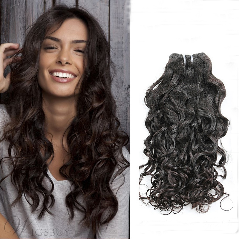 Natural Black Human Hair Weave Loose Wave 1PC