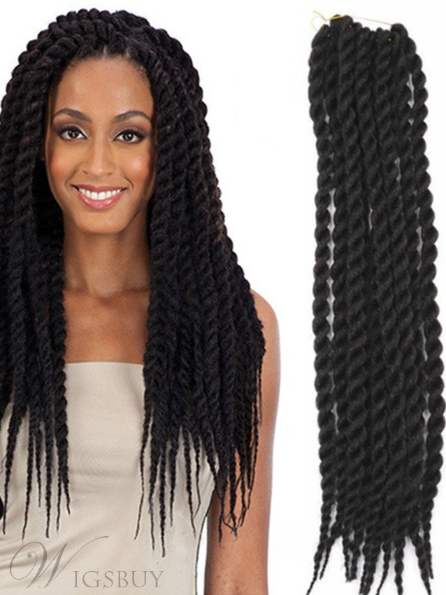African American Rope Twist Crochet Braid 24 Inches