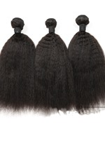 6A Grade High Quality Kinky Straight Natural Color Human Hair Weave 1 PC