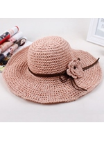 Korea Style Fashion Braid Flower Sun Hat