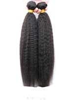 6A Grade High Quality Yaki Straight Natural Black Human Hair Weave 1 PC