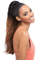 African American Long Loose Wave Two Tone Synthetic Ponytail