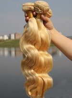 6A Quality # 613 Body Wave Human Hair Weave 1 PC