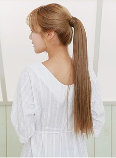 Elegant Long Straight Smooth Synthetic Ponytail
