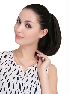 Natural Straight Synthetic Ponytail