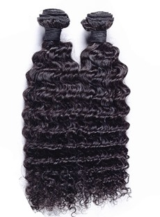 7A High Quality Deep Wave Natural Black Human Hair Weave 1 PC
