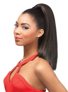 Black Women Beautiful Synthetic Long Straight Ponytail