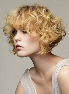 Elegant Short Wavy Bob Capless Synthetic Wig 10 Inches