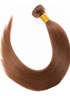 6A Grade High Quality Dark Brown Human Hair Weave 1 PC
