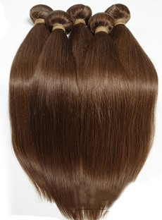 6A Grade High Quality Straight # 2 Human Hair Weave 1 PC