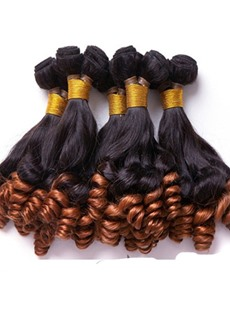1B/30# African American Human Hair Fumi Curly Weave 1 PC 14 Inches