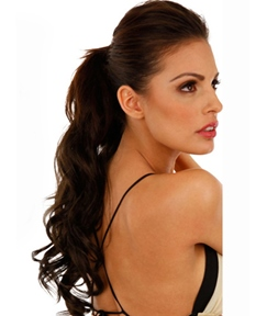 Elegant Long Loose Wave Smooth Synthetic Ponytail
