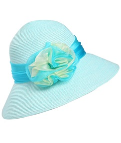 Colorful Straw Bow Fisherman Sun Hat