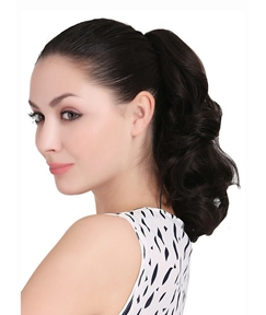 Beautiful Mid-length Big Wave Synthetic Ponytail