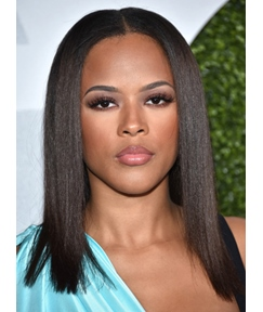 Serayah McNeill Medium Straight Lace Front Human Hair Wig 16 Inches