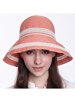 Sweet Round Top Hollow Brim Sun Hat