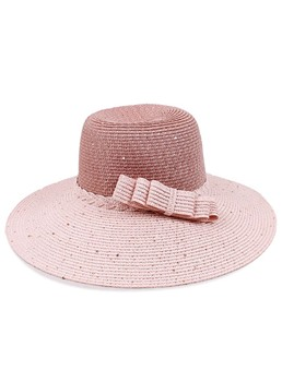 Sweet Fashion Wide Brim Bow Women Hat