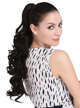 Fashion Natural Wavy Long Synthetic Ponytail