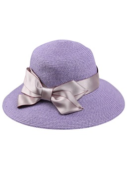 Graceful Purple Straw Women Sun Hat