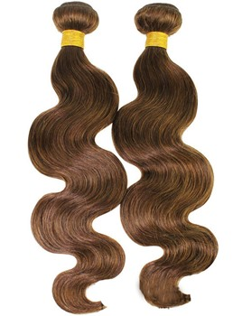 6A Grade High Quality Body Wave # 2 Human Hair Weave 1 PC