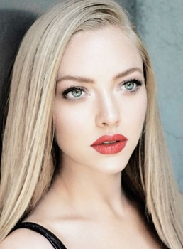 Amanda Seyfried Long Straight Lace Front Cap Synthetic Hair Wigs 18 Inches