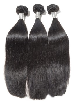 6A High Quality Natural Black Straight Human Hair Weave 1 PC