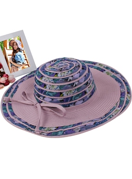Free Size Big Flower Trim UV-protection Sun Hat