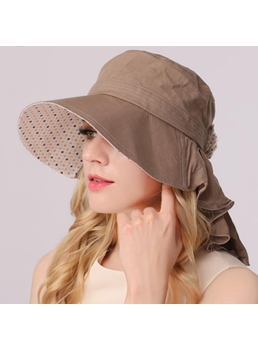 Free Size Big Brim Cotton Sun Hat
