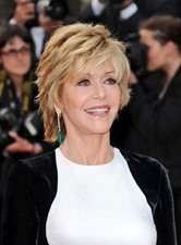 SexyJane Fonda Short Straight Layered Synthetic Hair Capless Wig 8 Inches