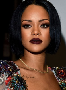 Top Quality Rihanna Medium Straight Lace Front Synthetic Hair Wig 12 Inches