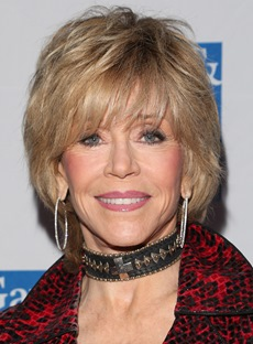 Popular Jane Fonda Style Short Straight Layered Synthetic Hair Capless Wig 8 Inches