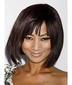 Sweet Medium Straight Capless Synthetic Hair Wig 12 Inches
