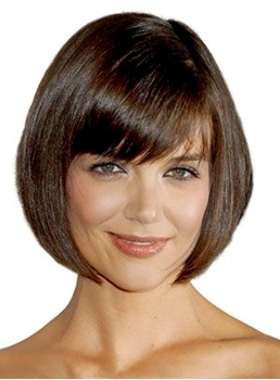 Katie Holmes Bob Short Straight Capless Synthetic Hair Wigs 10 Inches
