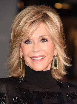 Jane Fonda Medium Straight Layered Special Synthetic Hair Capless Wig 12 Inches