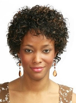 New Arrival Medium Curly Capless Synthetic Hair Wig 12 Inches