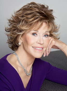 Jane Fonda Short Wavy Layered Synthetic Hair Capless Wig 8 Inches