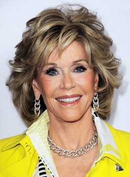 Jane Fonda Medium Wavy Layered Synthetic Capless Wig 12 Inches