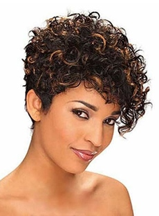 Top Quality Short Kinky Curly Capless Human Hair Wig 10 Inches