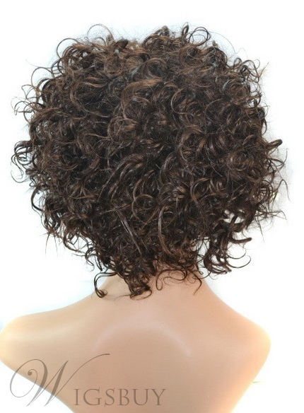 Hot Sale Medium Curly Capless Synthetic Hair Wig 12 Inches